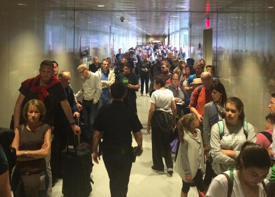 Customs bottlenecks could potentially lead airlines to pull back their flight offerings, analyst Henry Harteveldt says.